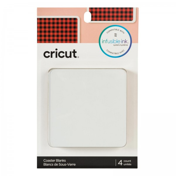 Cricut Coaster Blank Square 4 stk
